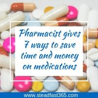 Pharmacist and mom gives advice to working moms how to save time and money on medications at the pharmacy